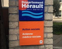 Panneau Action Sociale Département de l'Hérault