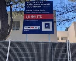 Panneau chantier Ville de Montpellier